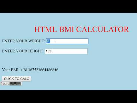 HTML - BMI CALCULATOR
