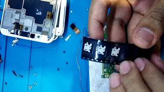 Proses repair charging port smartphone lenovo A850+