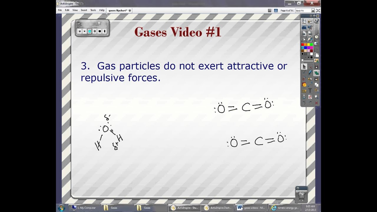 assumptions of the kinetic molecular theory of gases