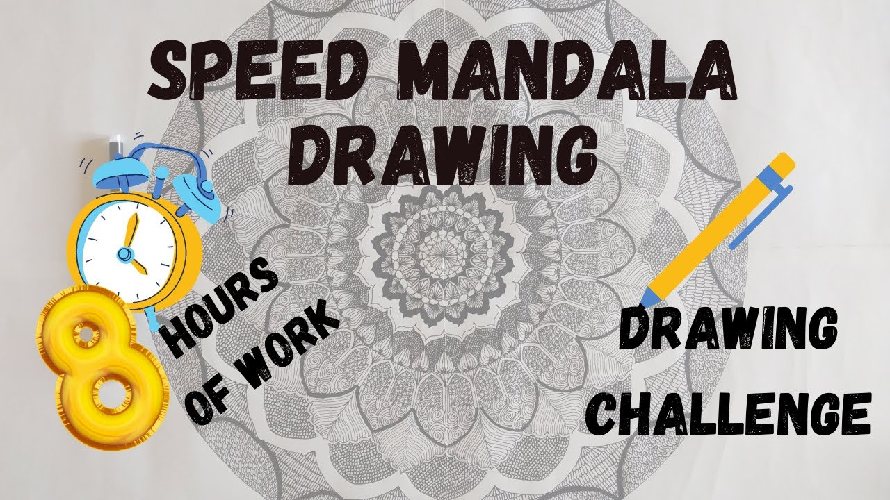 speed mandala drawing l special edition  youtube