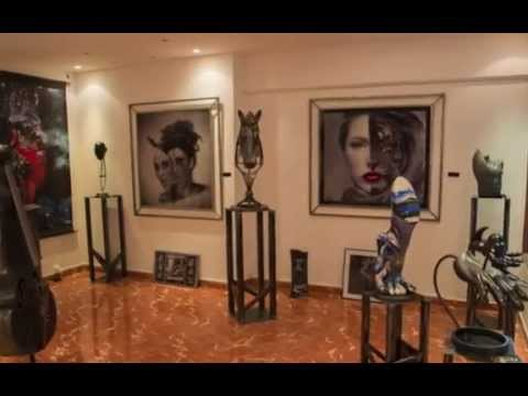 willy pinna et christine raveau exposent square art galerie saint paul de vence youtube. Black Bedroom Furniture Sets. Home Design Ideas