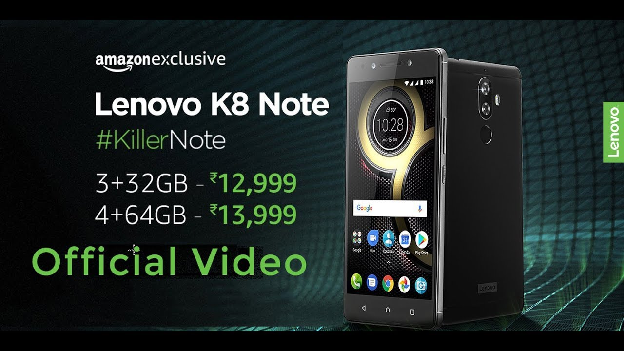 Lenovo K8 Note Overview, Specs & Price - Official Video