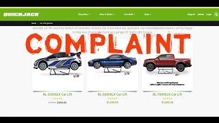 Quickjack BL-7000SLX Car and Truck Lift Complaint