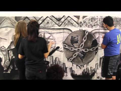 Live Drawing with Sergio Gomez and Bloom Trail High School Students