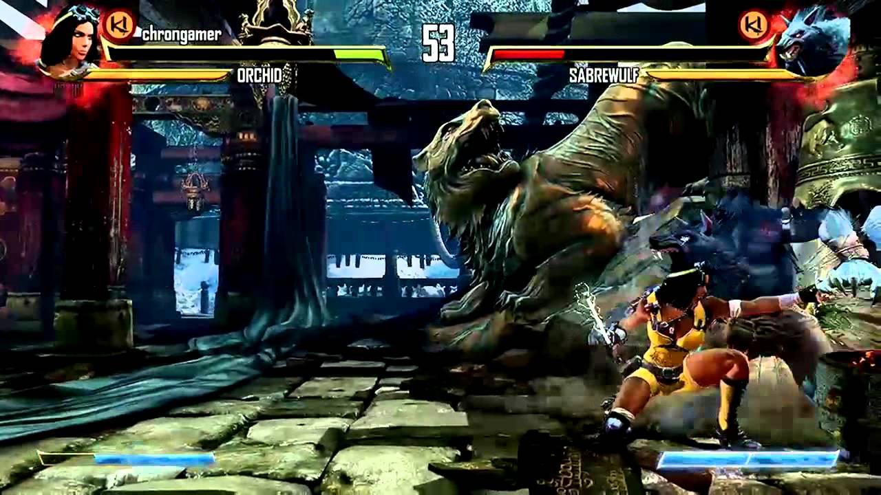 Killer Instinct Gameplay Orchid Vs Sabrewulf Xbox