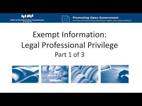 Legal Professional Privilege Part 1