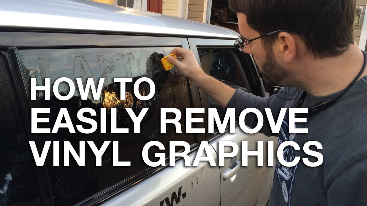 How to easily remove vinyl graphics and stickers from your Getting stickers off glass