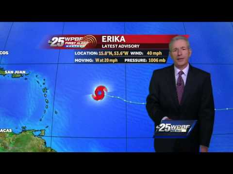 Tropical Storm Erika is poorly organized, officials say