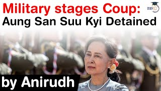 Military Coup in Myanmar 2021 - Aung San Suu Kyi detained - One year emergency declared in Myanmar