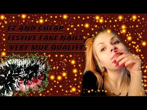 FESTIVE NAILS TUTORIAL (FOR NOOBS) thumbnail