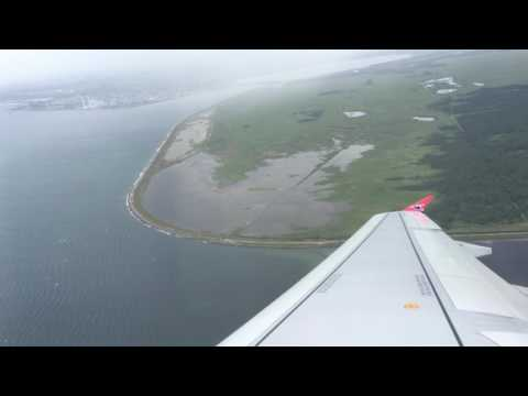 Takeoff Copenhagen for Vagar, Faroe Islands (4K) Atlantic Airways A320