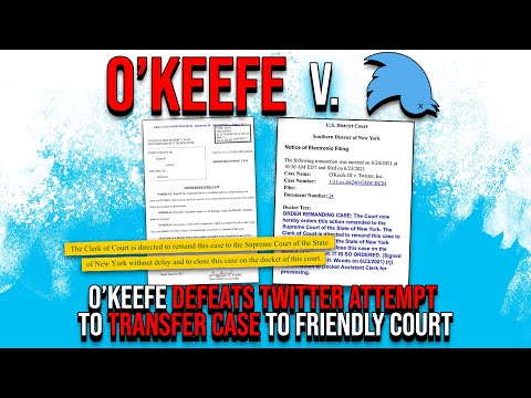 TWITTER LEGAL VICTORY: O'Keefe Defeats Twitter Attempt to Transfer Case to Friendly Court