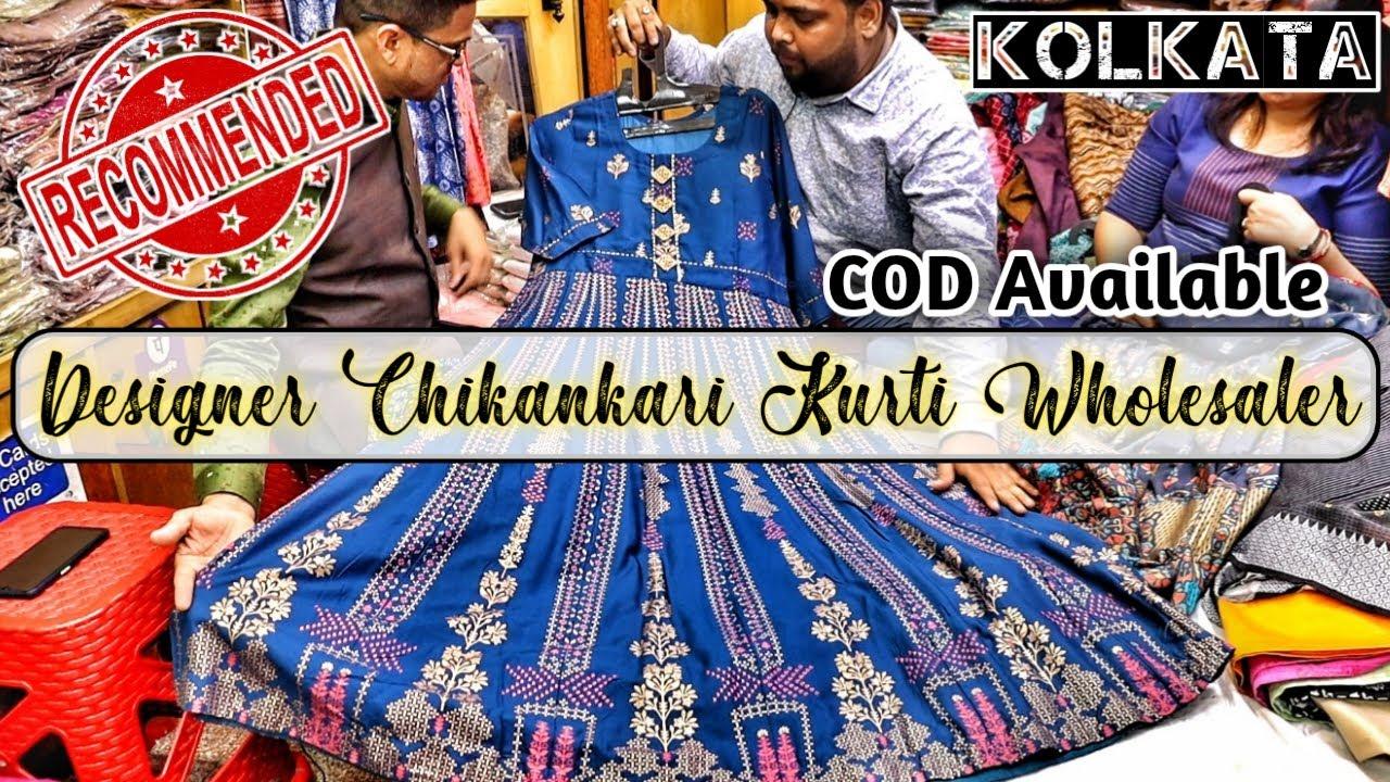 Ethnic Kurti & Fancy Gown Wholesaler in Kolkata/Designer Chikankari Kurti Collection/Ashneh Creation
