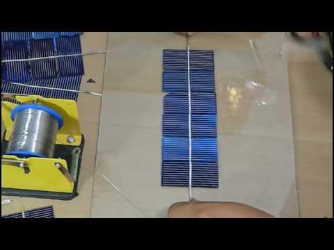 Solar cell Solar panel assemble video