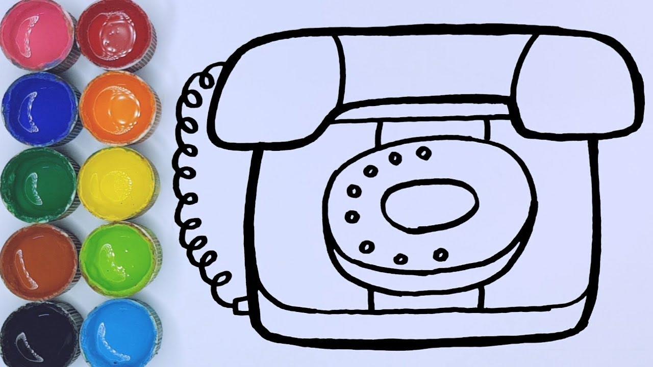 Cara Menggambar Dan Mewarnai Mainan Telepon Rumah Youtube