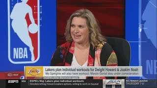 """Ramona Shelburne on """"Who's best fit for Lakers to replace Boogie?: Dwight Howard or Joakim Noah?"""""""