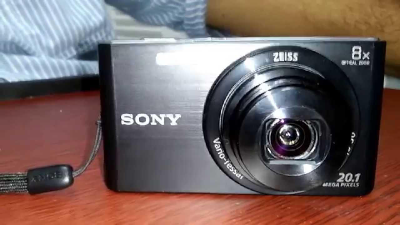 Sony CyberShot DSCW830 20.1 MP Digital Camera Unboxing & Review! - YouTube