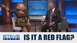 Stevie Wonder can see that's a red flag! || STEVE HARVEY
