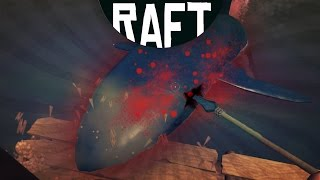 RAFT - KILLING THE SHARK!! (Raft Game / Raft Gameplay)