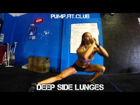 Deep Side Lunges by Hannah Eden From PumpFit Club!