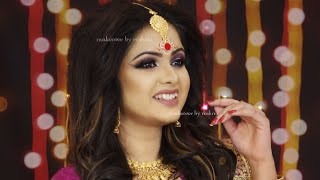 The Bengali Bridal Makeup    Reception Look    Makeover By Reshmi