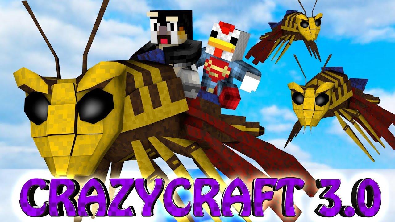 Minecraft crazy craft 3 0 ep 7 killer bees youtube for Crazy craft 3 0 server