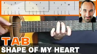 """Guitar Cover / Tab """"Shape Of My Heart"""" by MLR-Guitar"""