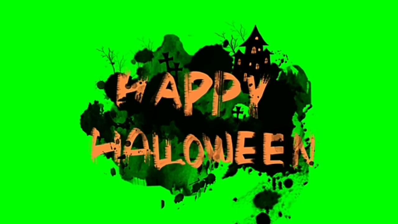 Green screen Halloween