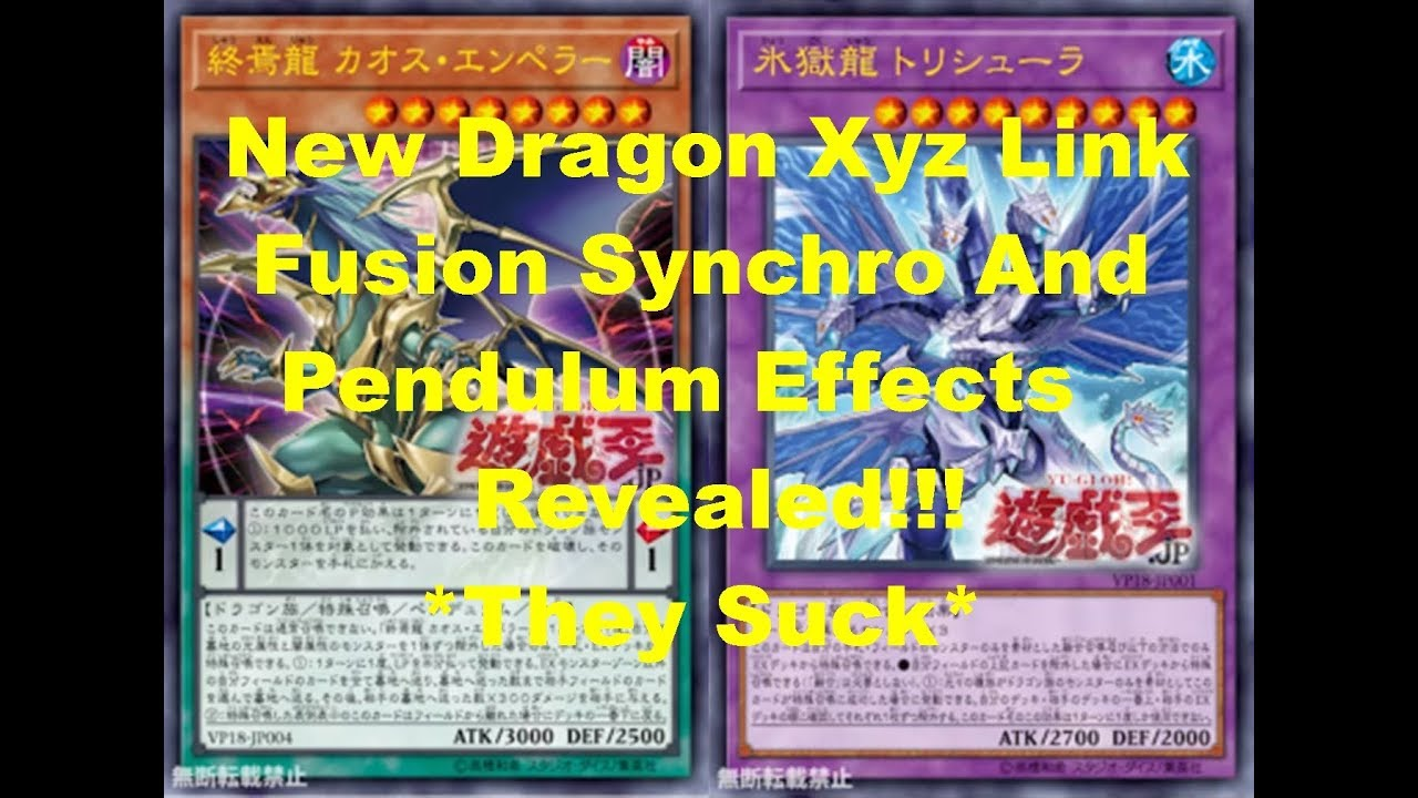 New Dragon Fusion Xyz Synchro Link And Pendulums Monsters Effects