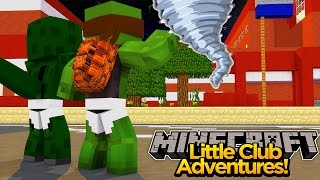 Minecraft Little club Adventures - Tiny Turtle CUAGHT IN A TORNADO!!!