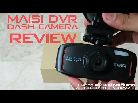 Maisi Ambarella A7 Full HD Car Dash Camera DVR Review | A Black Box For Your Car