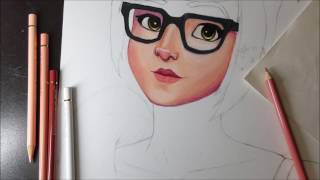 Drawing Mei from Overwatch
