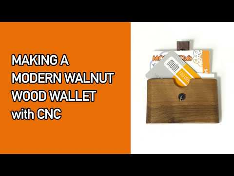 Making a modern walnut wood wallet with CNC / Business card holder