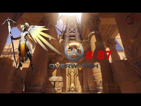 Overwatch Gameplay 87-1 Rank Round with Mercy