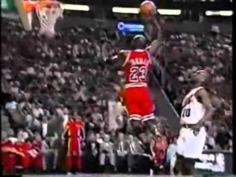 Michael Jordan Breakaway Dunk 1996 NBA Finals Vs Sonics