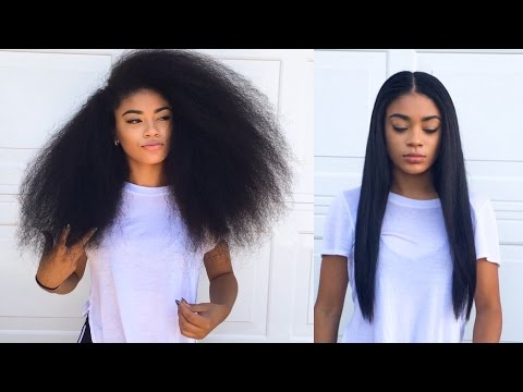 Curly To Straight Hair Tutorial Updated How To Get Rid Of