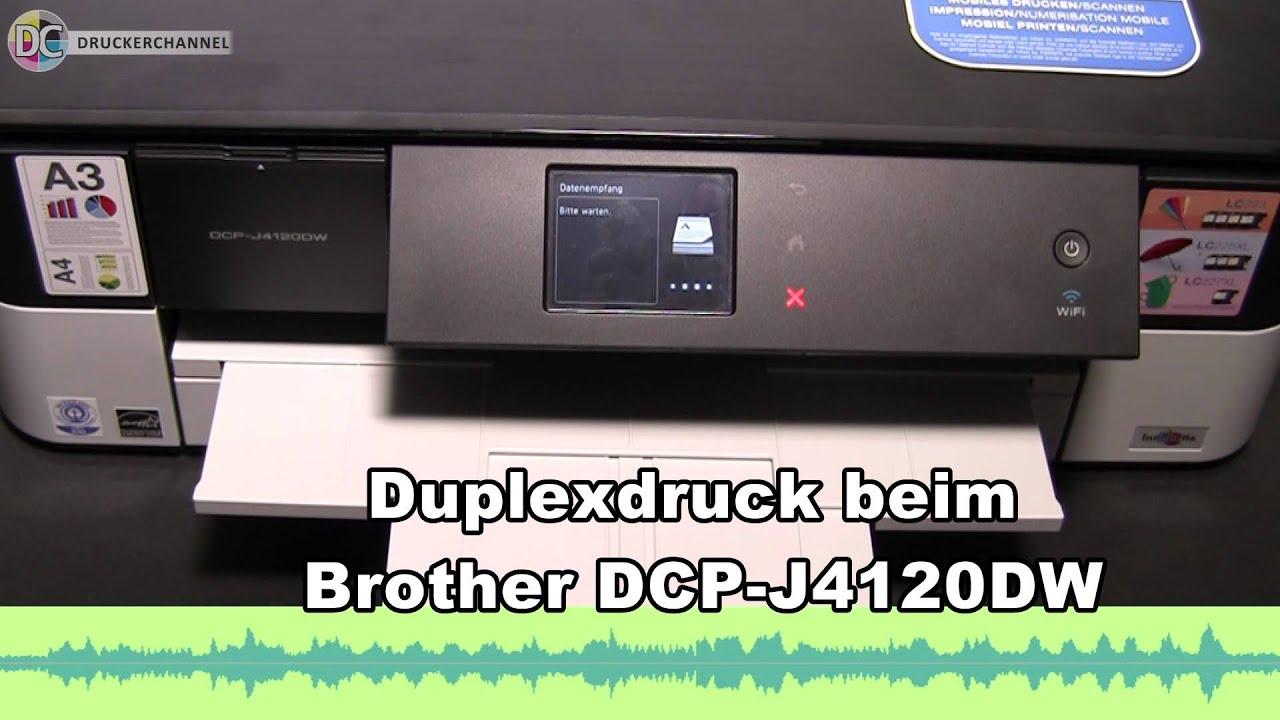 Duplexdruck beim Brother DCP J4120DW - YouTube