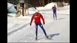 Одновременный полуконьковый ход на лыжах