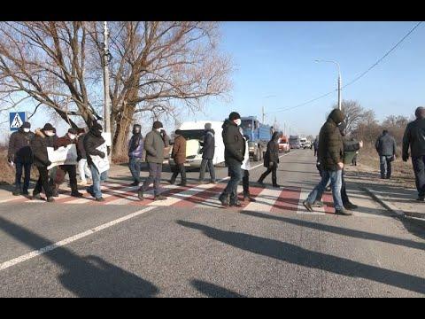 mistotvpoltava: На трасі Кременчук Полтава перекрили трасу
