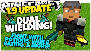 Minecraft 1.9 News | DUAL WIELDING | LEFT HAND OPTIONS! | Facts & Opinions! (Minecraft 1.9)