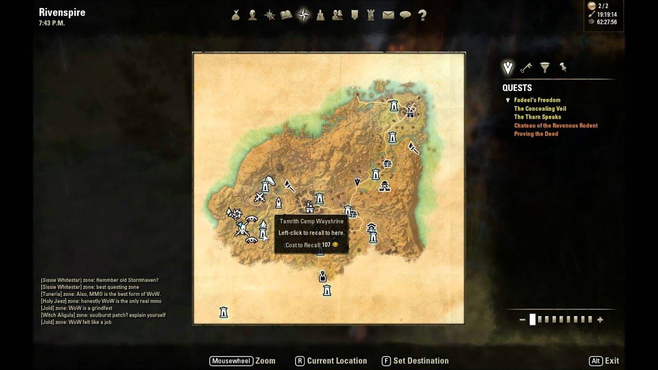 ESO: Rivenspire Treasure Map II Location - YouTube