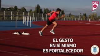 10.1.- Técnica de carrera: Ejercicios de salida de tacos y aceleración