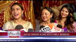 Durga Making Pandal | Kajol | Tanisha Mukherjee |  Tanuja Mukherjee | Durga Pooja Celebration 2017