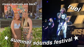 seeing ruel live at summer sounds festival! *vlog*