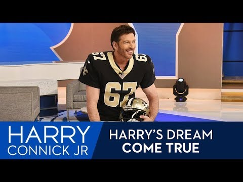 Watch Harry Connick Jr. suit up as a New Orleans Saint for a 1-day contract