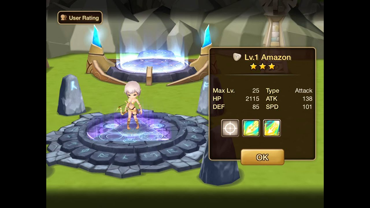 Summoners War: Sky Arena - Light Amazon Runes