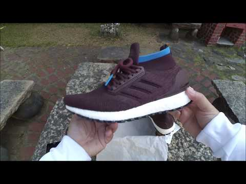 6633bddc0df6 Adidas UltraBOOST All Terrain Burgundy with Bright Blue UNBOXING - YouTube