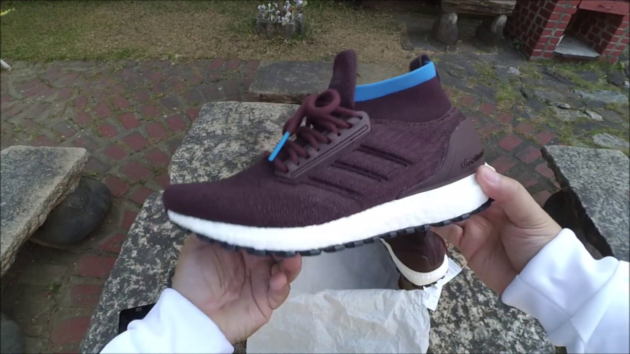 info for 250db 6fdfe Adidas UltraBOOST All Terrain Burgundy with Bright Blue UNBOXING