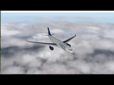 flight  simulator  X-plane 10  party flight from Amsterdam to Barcelona