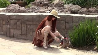 X17 EXCLUSIVE: Phoebe Price Flashes Photographers In Calabasas